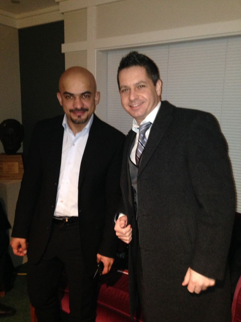 Mustafa with Meridian's Program Officer Bogdan Banu who organized the U.S. Elections program in 2012.