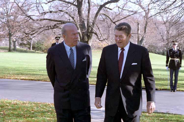 President Reagan and Secretary Shultz