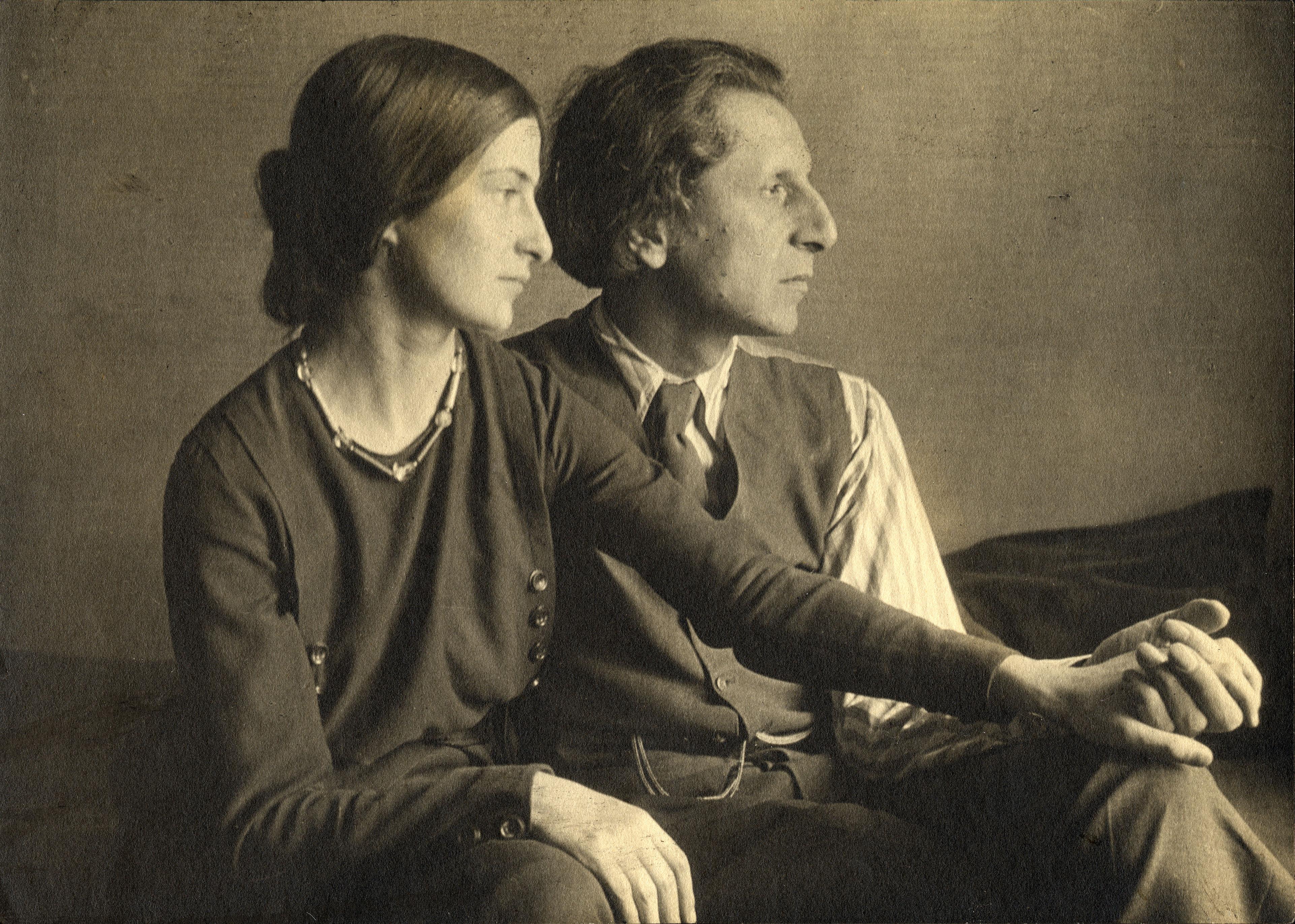 Ananda Coomaraswamy with Stella Bloch, c. 1922