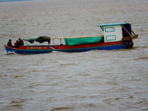 An example of the boats used to ferry people from place to place.