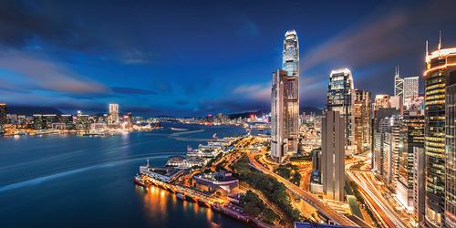 Skyline of Hong Kong. Courtesy of Hong Kong Tourism Board.
