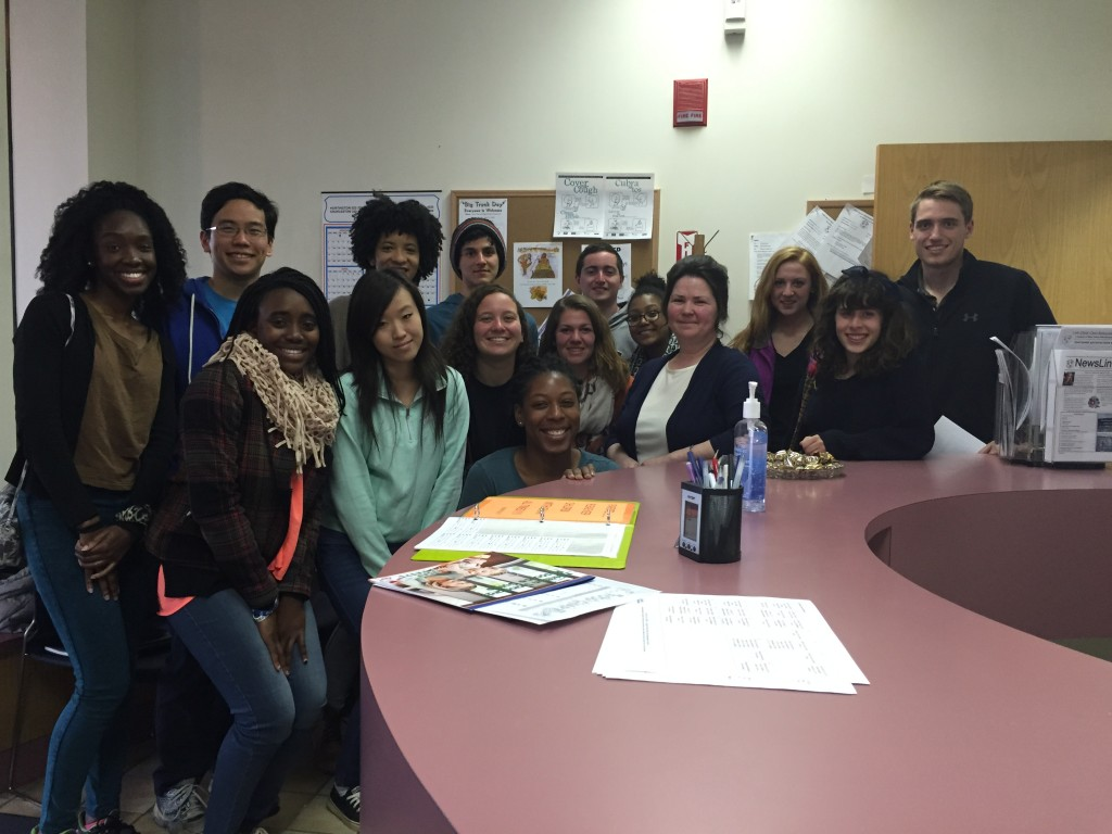 University of Maryland students with Tammy from Family Child Care Food Program.