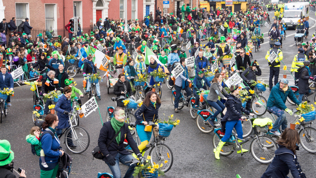 Dublin Cycling Campaign - St. Patrick's Parade 2015 in Dublin. Photo credit: William Murphy (Flickr).