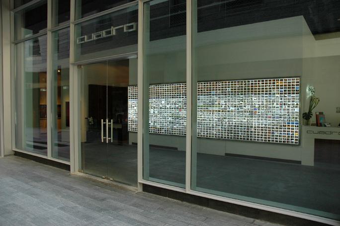 Roberto Lopardo created a digital photography light box installation titled Mapping Dubai /Courtesy of Cuadro Gallery.