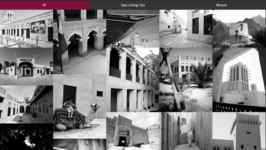 Images of heritage sites and museums located in old town Dubai/Courtesy of Dubai Culture.