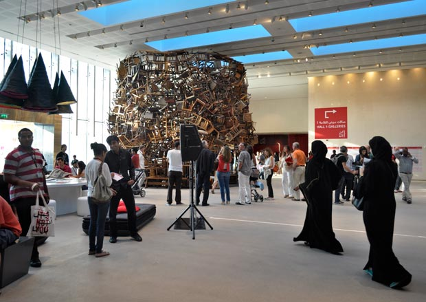 Tadashi Kawamata's Chairs installed during Abu Dhabi Art 2012/Courtesy of Islamic Arts Magazine.