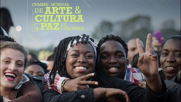 Poster for the World Art and Culture Summit for Colombian Peace/Photo courtesy of IDARTES