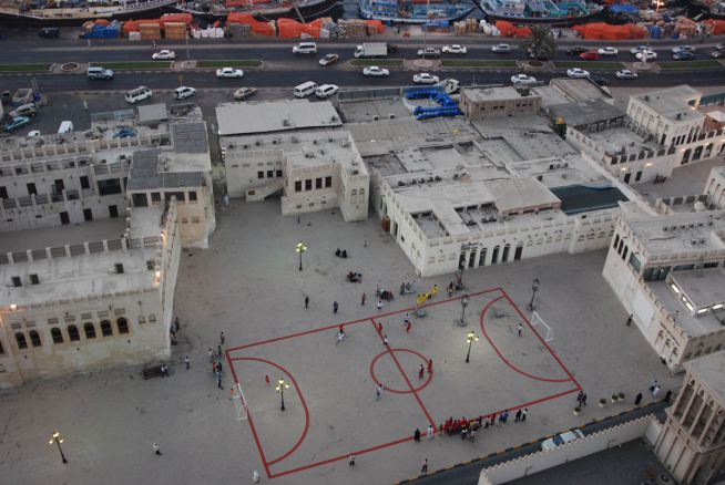 Maider Lopez creates Football Field as a commissioned work for Sharjah Biennial 2007/Courtesy of Alfredo Rubio.