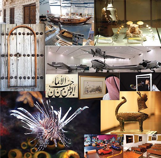 Snapshots of Sharjah museums that cover Islamic art and culture, archaeology, heritage, science, marine life, and the history of Sharjah and the region/Courtesy of Sharjah Museums Department.
