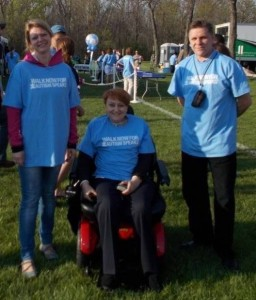 Russian visitors volunteer at a Walk for Autism Speaks in Northfield, Illinois