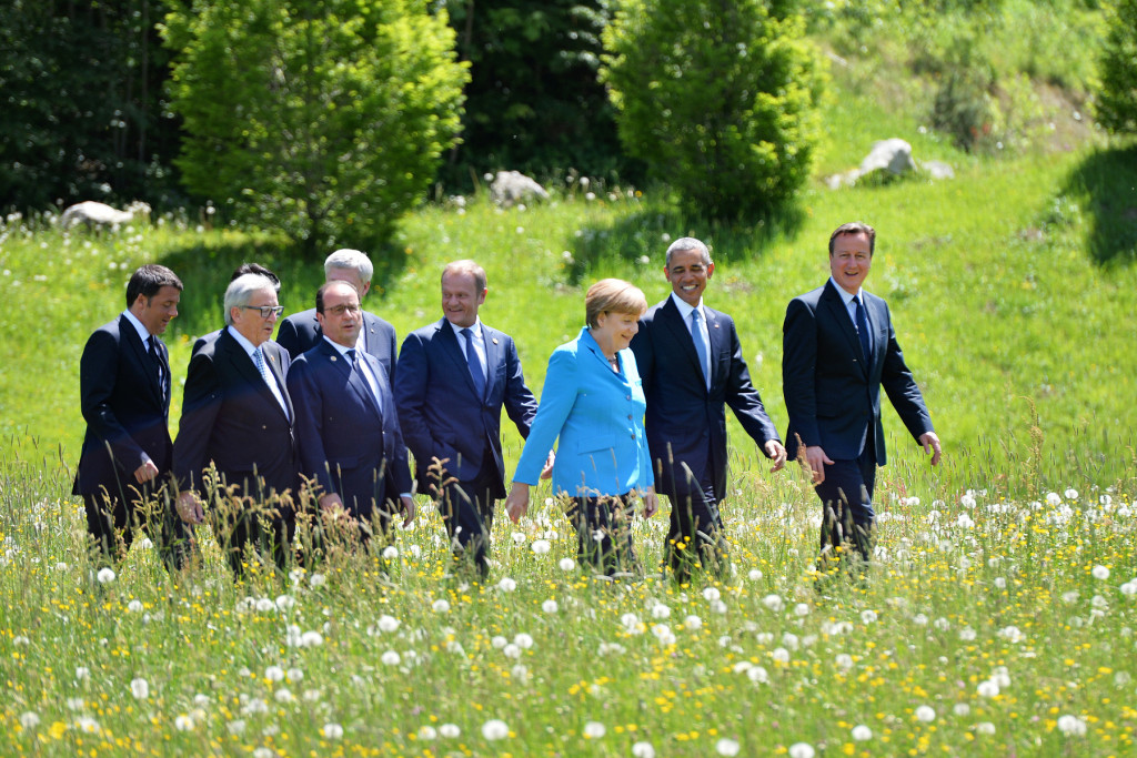 Leaders explore the countryside during the G7 Summit held in Bavaria, Germany.