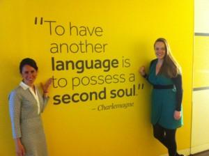Rowin & mentor Sheerin Vesin at Rosetta Stone