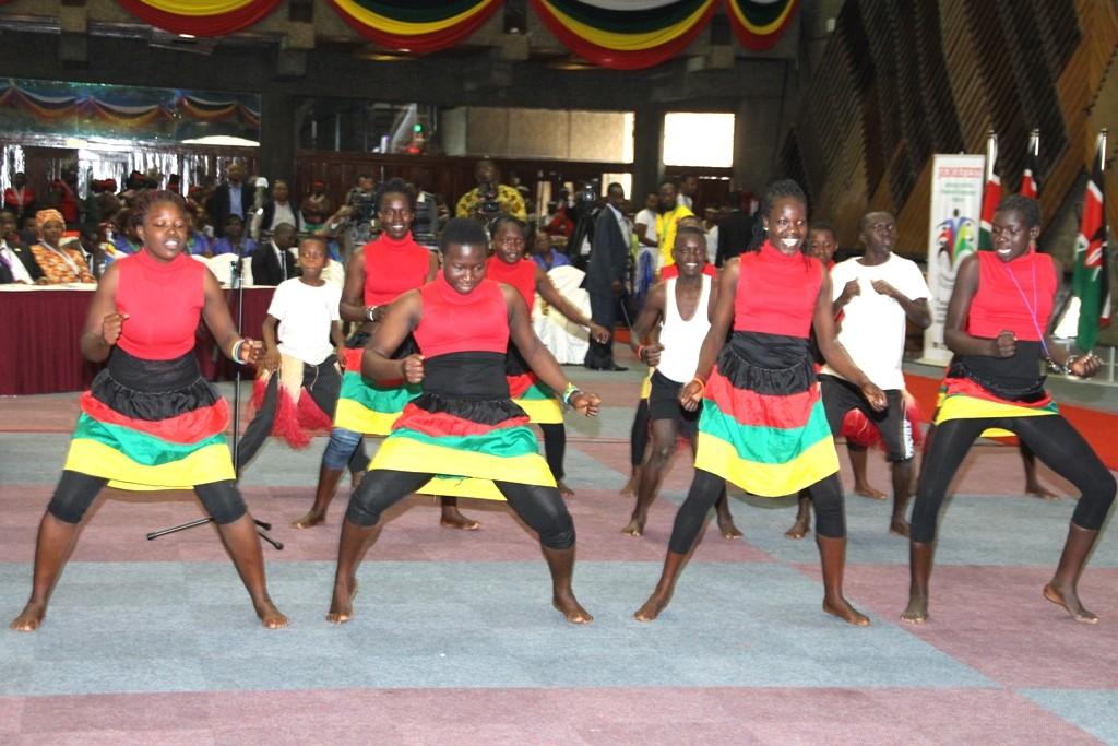 Performers engage the audience in Nairobi, Kenya. © Jamafest 2015.