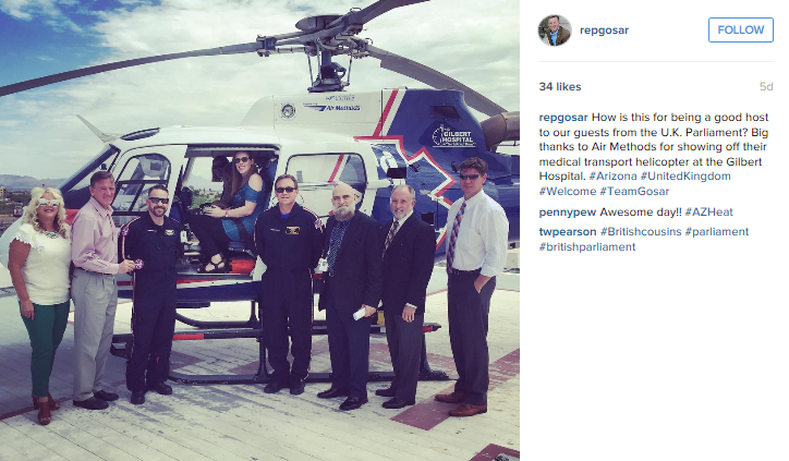 From Representative Gosar's Instagram account