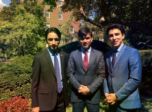 Participants of Afghan Diplomats Training pose for a photograph.
