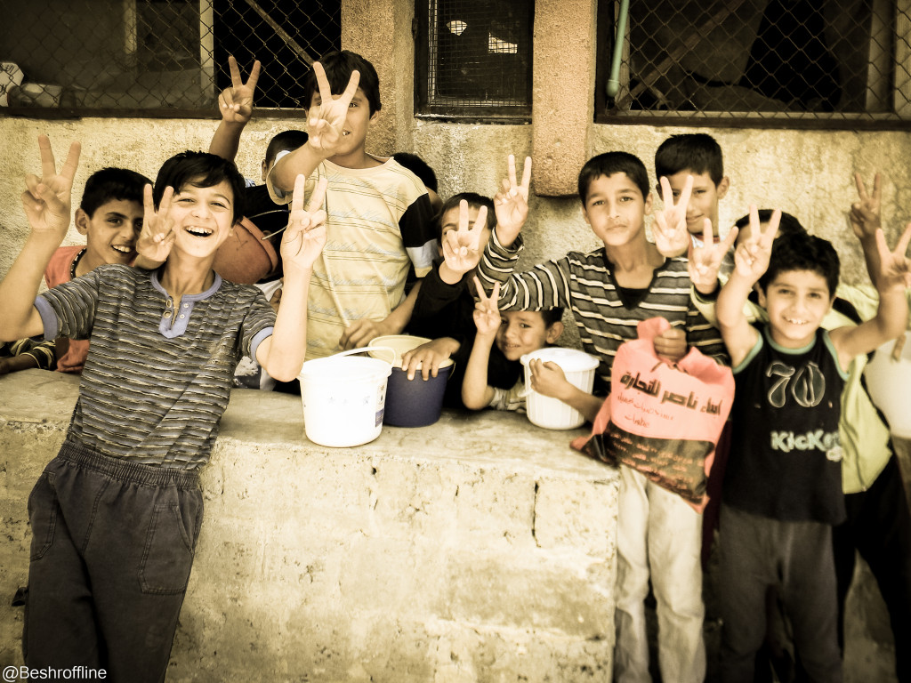 Children of Syrian hope for peace. Photo Credit: Beshr Abdulhadi http://ow.ly/U31Ci