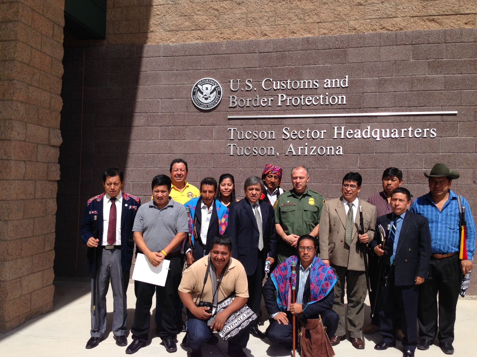 Participants at the U.S. Customs and Border Protection.