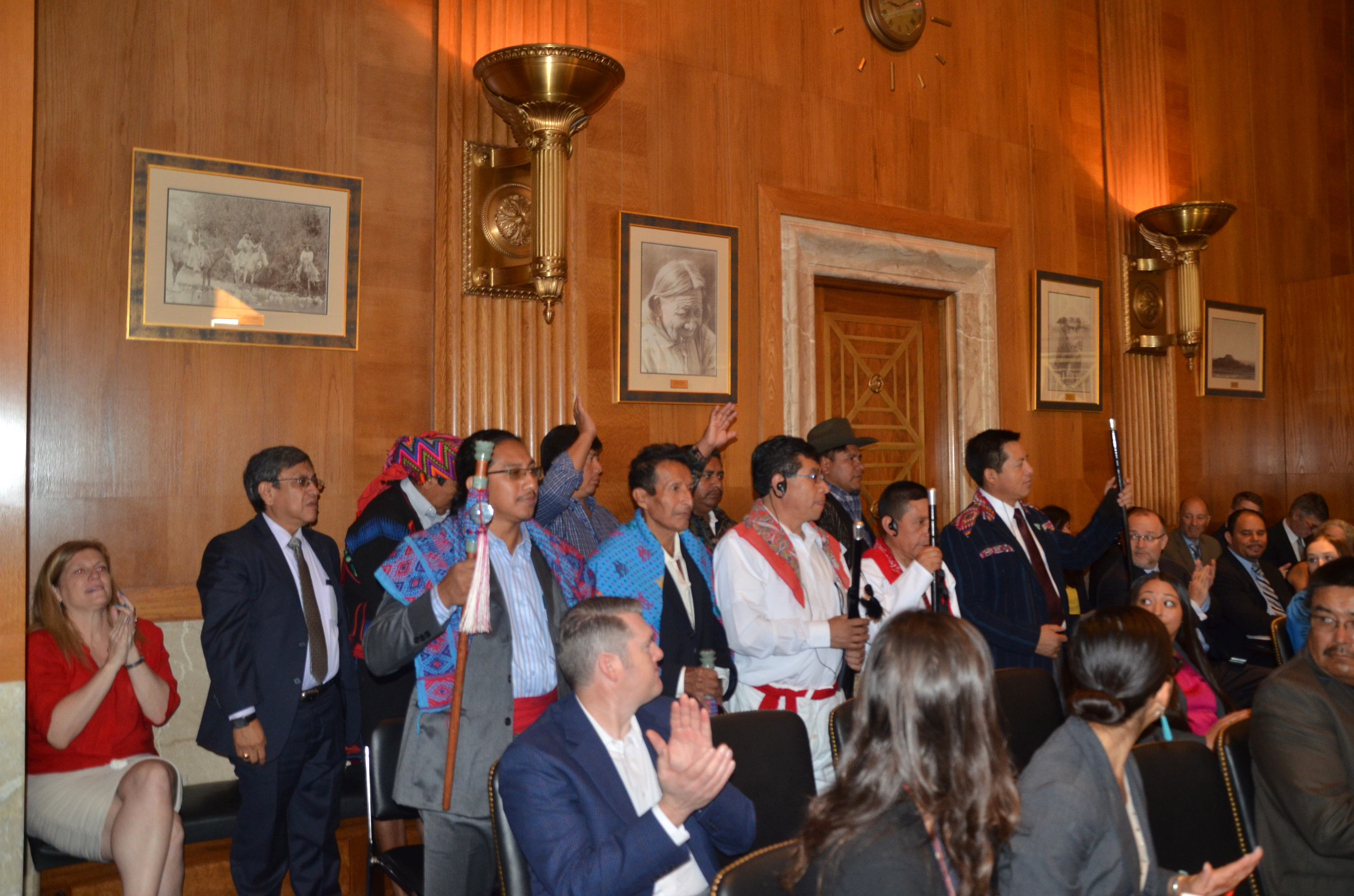 Guatemalan Mayan Tribes represented by the participants at the National Congress of American Indians Tribal Impact Day.