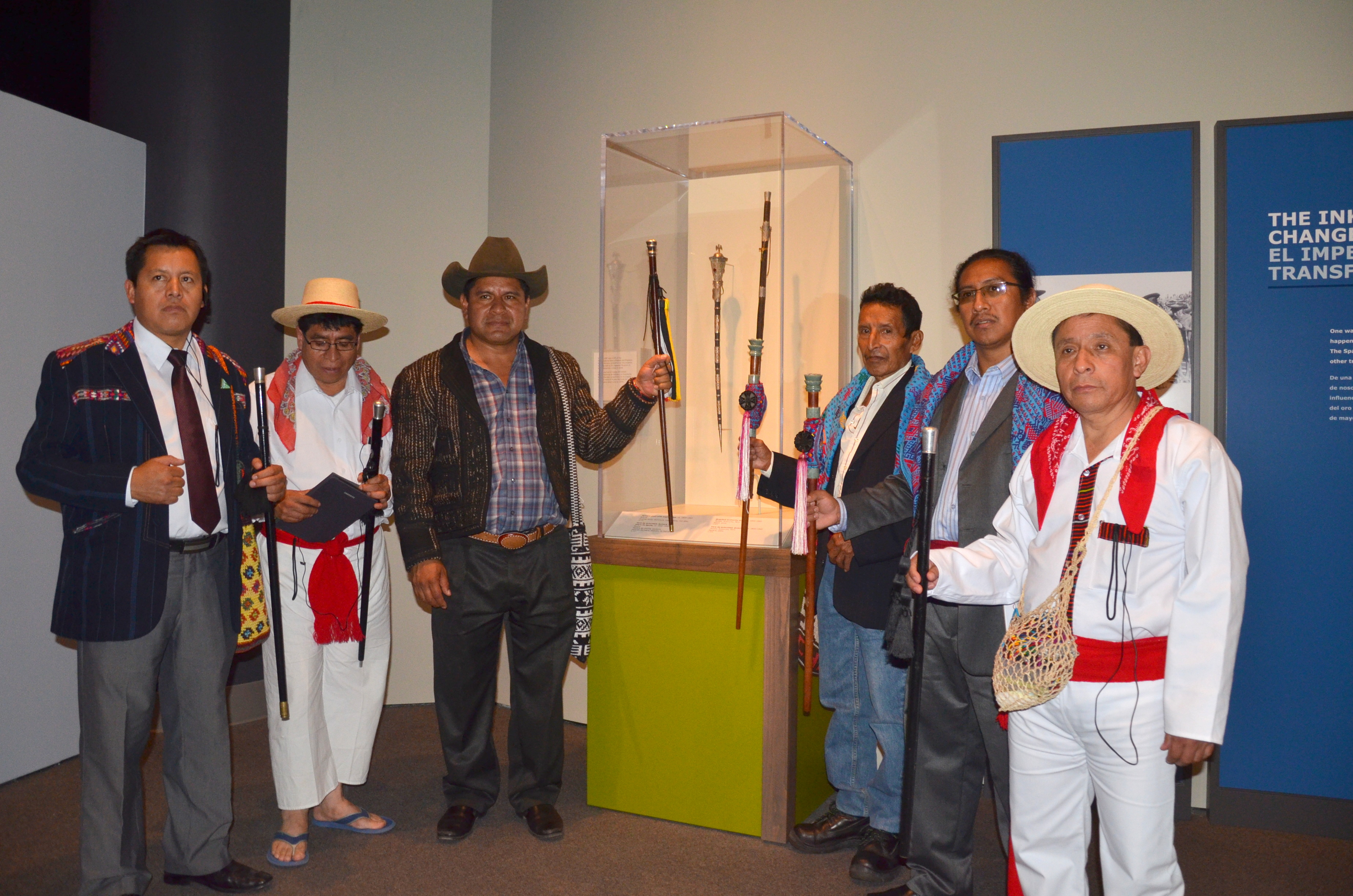 Participants viewing Mayan Artifacts at the National Museum of the American Indian.