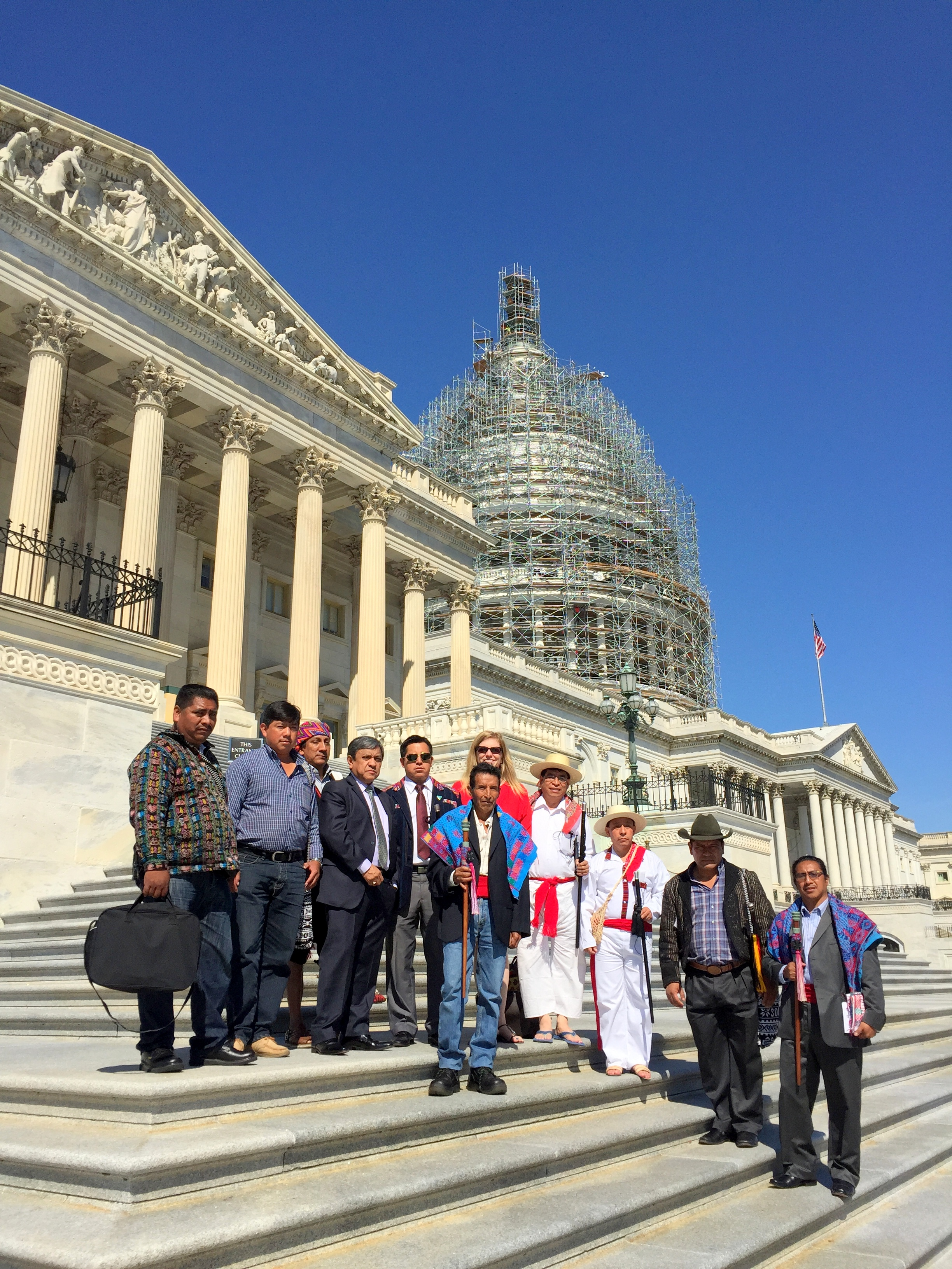 Participants standing on the U.S. Capitol steps.