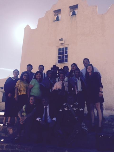 Participants at the Laguna Pueblo.