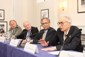 Amb. Keith, second from right, participates in a panel.