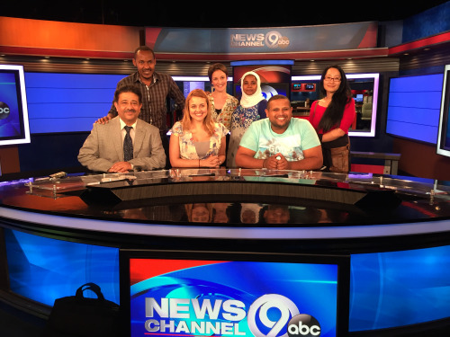 (IVLP participants toured the news outlet in Syracuse.)