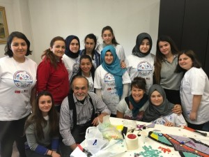 I was really looking forward to working with a group of teenaged girls from a local vocational school who would participate in the project.