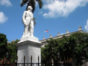 Statue of Carlos Manuel de Cespedes in Old Havana.