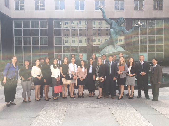 The American and Korean participants outside at the U.S. Department of State.