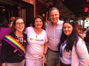 Scottish MP Angela Crawley and Representative Scott Peters experiencing LGBT pride San Diego.