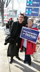 IVLP Visitor with Bernie Sanders Supporter
