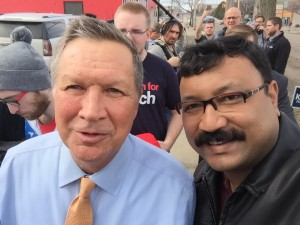 IVLP visitor with current Ohio Governor John Kasich