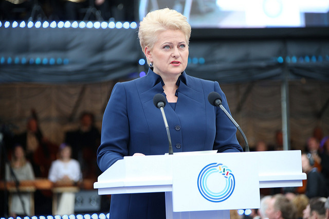 Lithuanian President Dalia Grybauskaitė (via Council of the EU on Flickr)