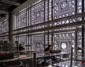 Jean Nouvel's first major commission, L'Institut du Monde Arabe in Paris (1987).