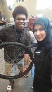 Community service activity at Open Roads Bike program that is aimed for positive behavioral intervention and support in Kalamazoo, Michigan